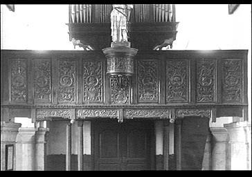Balustrade de l'orgue prise par les Allemands