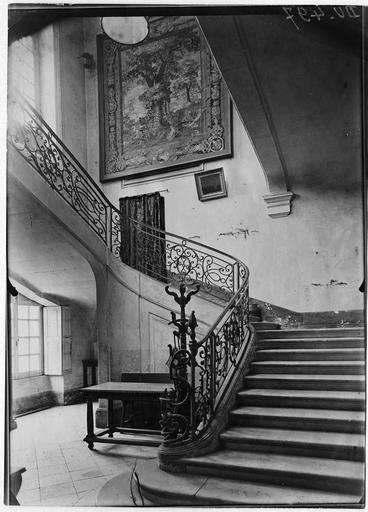 La rampe d'escalier Louis XV en fer forgé