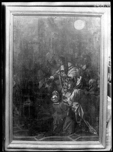 tableau : Louis XIV touchant les malades des écrouelles
