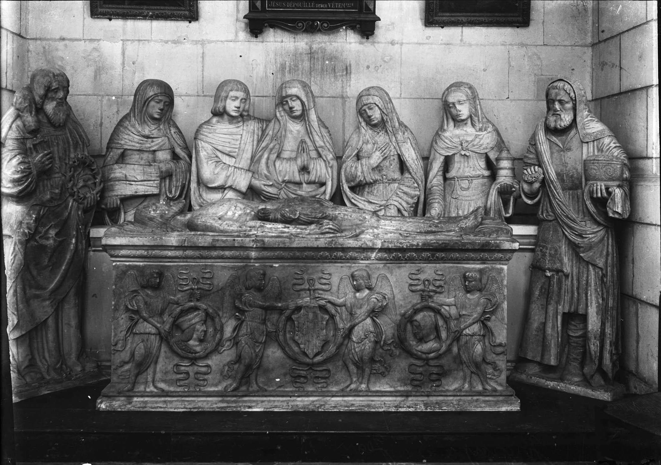 Groupe sculpté : Sépulcre