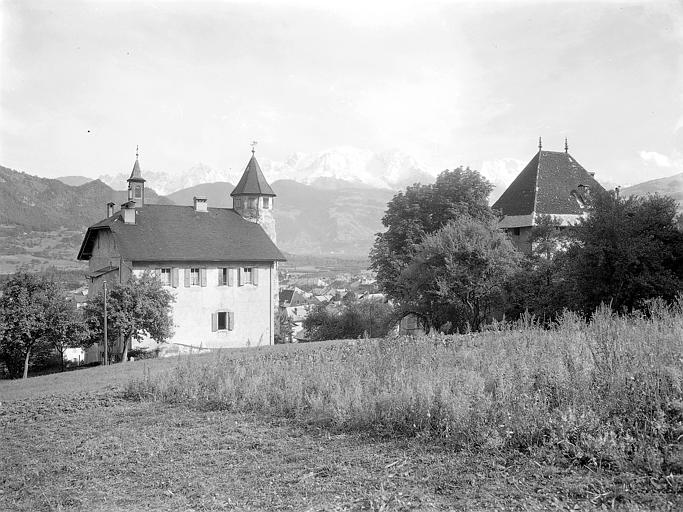 Vue d'ensemble; Mont-Blanc en arrière-plan