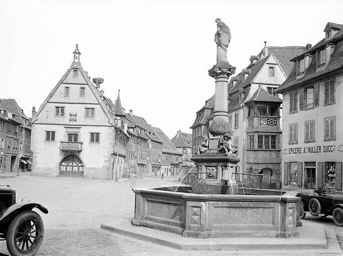 Façade vue depuis la fontaine Sainte-Odile