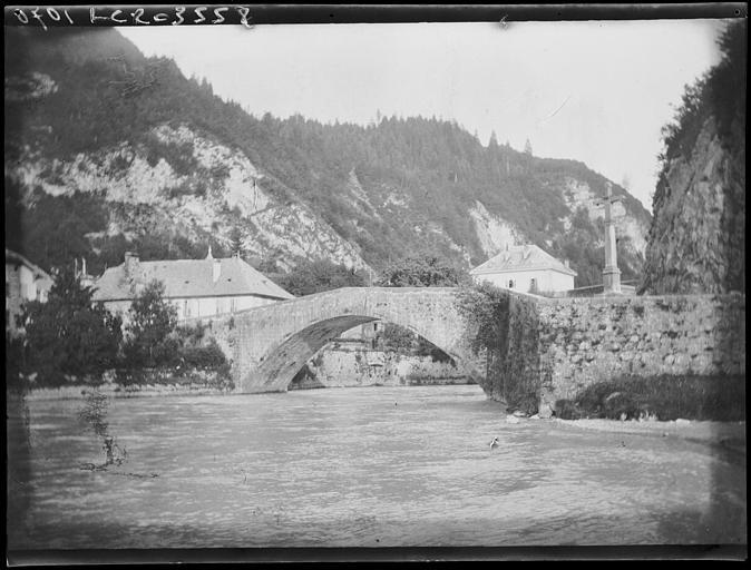 Vieux pont de Cluses, vue d'ensemble
