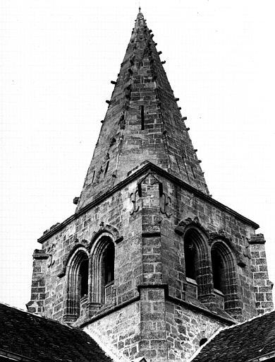 Extérieur, clocher, face sud-ouest
