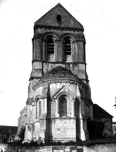 Extérieur, ensemble est, abside, clocher