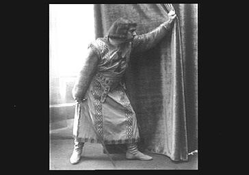 Le chanteur d'opéra Muratore sur scène