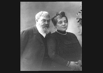 M. et Mme Poilpot, présidente de l'Orphelinat des Arts