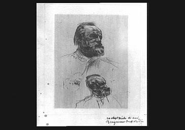 Dessin : portrait d'Auguste Rodin