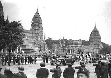 Visite officielle de l'Exposition Coloniale
