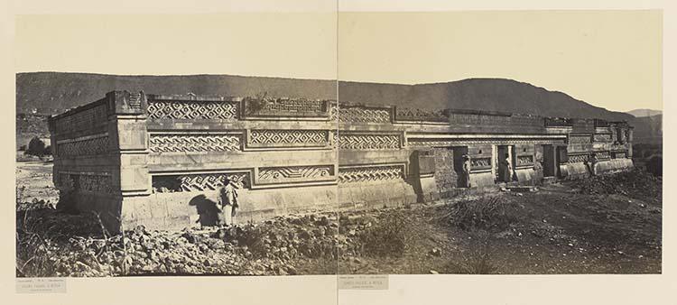 Grand palais à Mitla. Façade intérieure