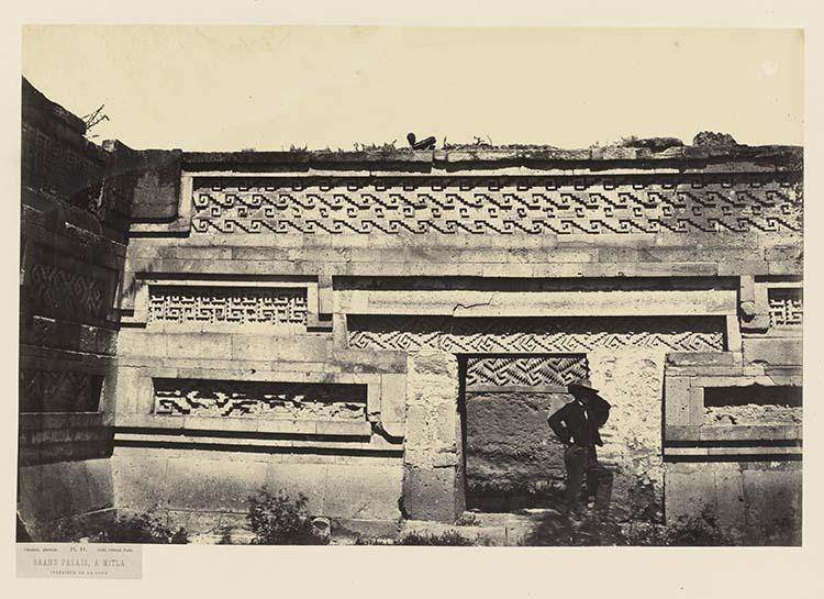 Grand palais à Mitla. Intérieur de la cour