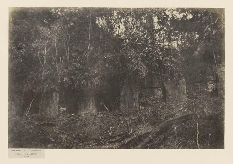 Palais, à Palenque. Façade