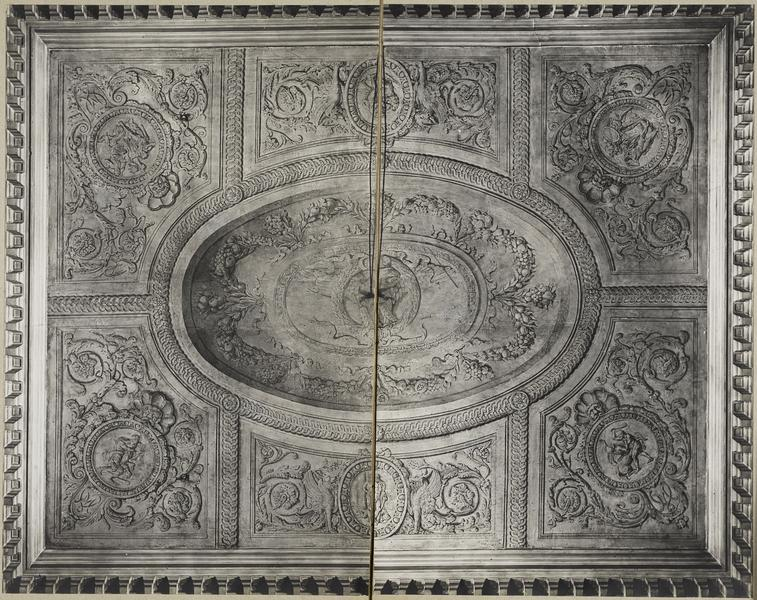 Vestibule central. Plafond de Gabriel Briard