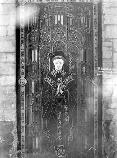 Dalle funéraire du chanoine Simon Bocheux mort en 1462