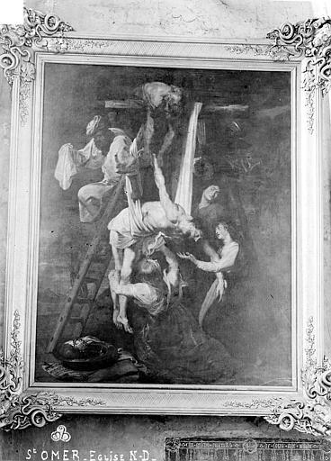 Peinture sur toile : Descente de Croix