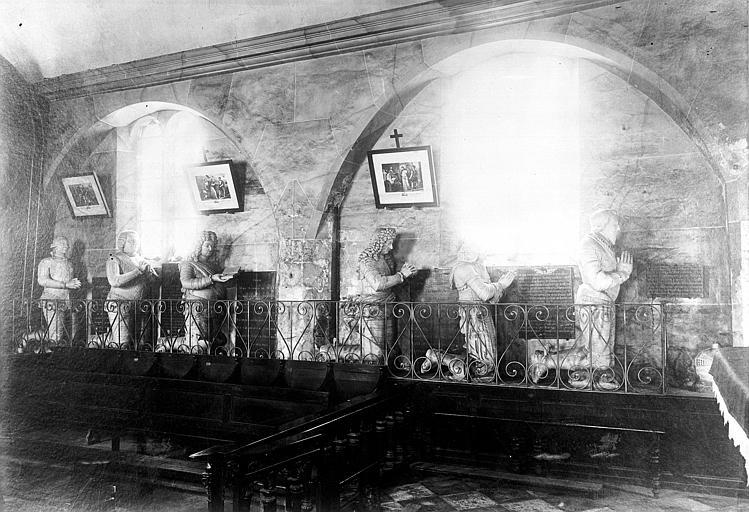 Ensemble des orants des seigneurs d'Aubigny