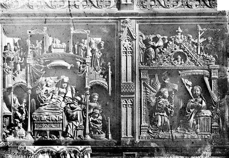 6 hauts-reliefs : Scènes de la Vie de la Vierge
