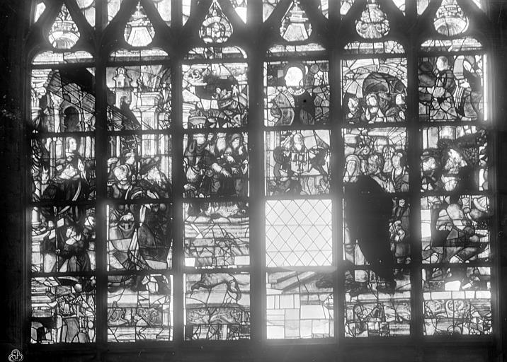 verrières : La Présentation au Temple, Le Mariage de la Vierge, La Descente de Croix, L'Annonciation et la Visitation, La Mort de la Vierge, La Création, Le Péché originel, Le Sacrifice d'Abraham, Le passage de la mer Rouge, Le Serpent d'airain, L'Abre de Jessé