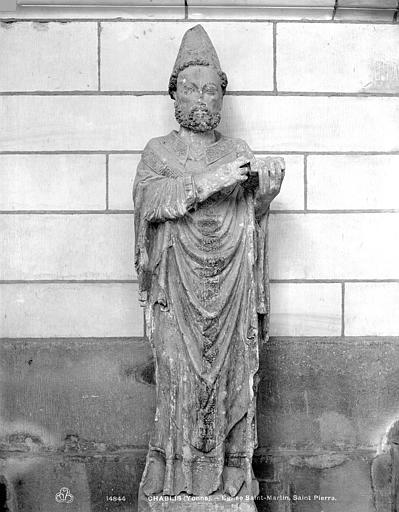 Statue : Saint Pierre Apôtre coiffé de la tiare
