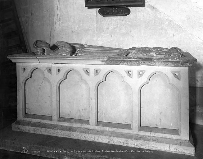 dalle funéraire : gisant de Guillaume, comte de Joigny