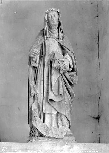 3 statues : sainte Barbe, sainte Marguerite et sainte Radegonde