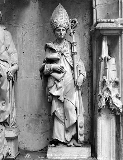 3 statues : Saint Honoré, Saint religieux, Evêque