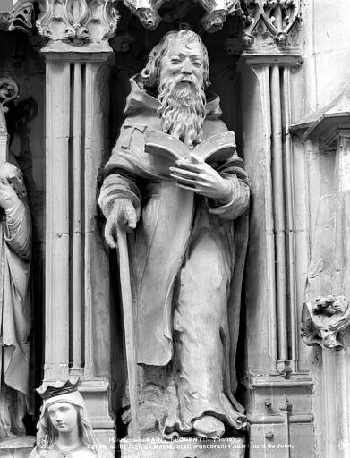 2 statues : Saint Eloi, Saint Jean de Matha