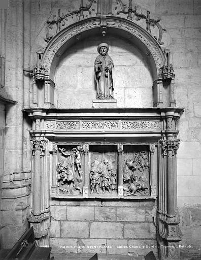 Chapelle nord du transept, retable. Retable de la chapelle nord du transept