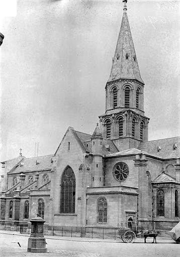 Façade sud : Transept et clocher