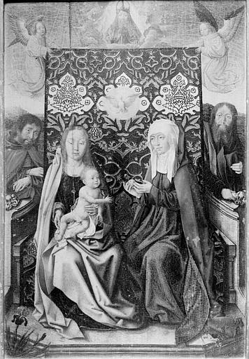 Panneau peint : Sainte Anne et la Vierge à l'Enfant