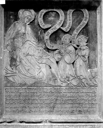 Plaque funéraire de Pierre Widerue, sommelier de l'échansonnerie de Charles VI et de Jeanne la Gonthière, sa femme