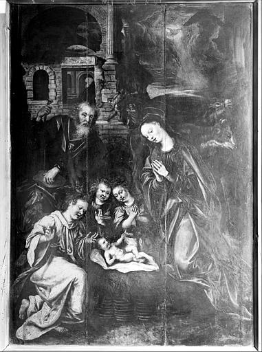 Tableau : L'Enfant Jésus adoré par les anges