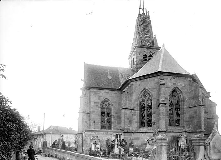 Abside et transept sud, côté est