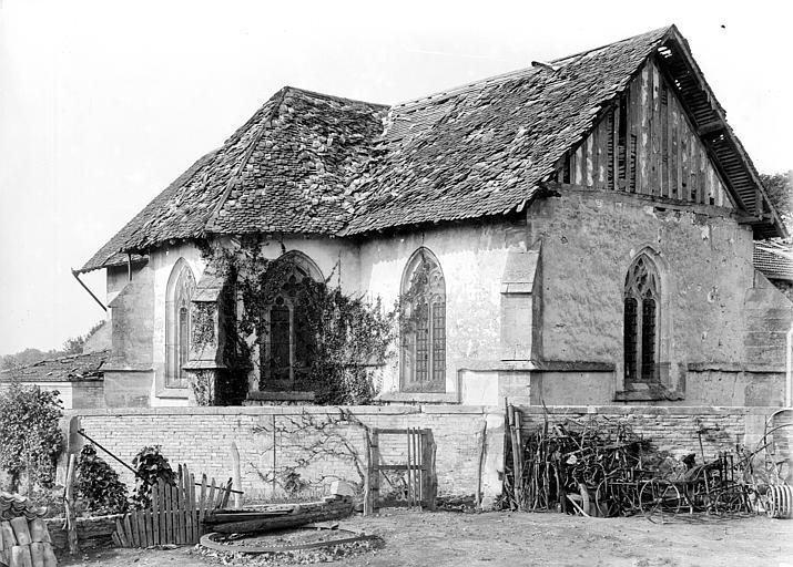 Abside et transept nord, côté nord