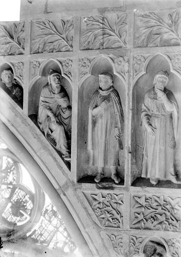 Revers du grand portail de la façade ouest, côté droit, septième registre