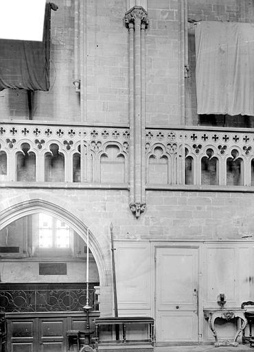 Vue intérieur du choeur, côté nord (détail)
