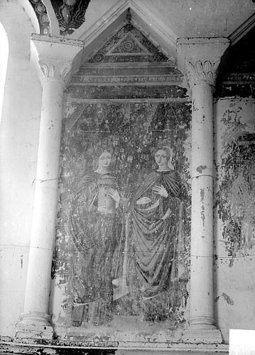 Peinture murale des arcatures : deux femmes