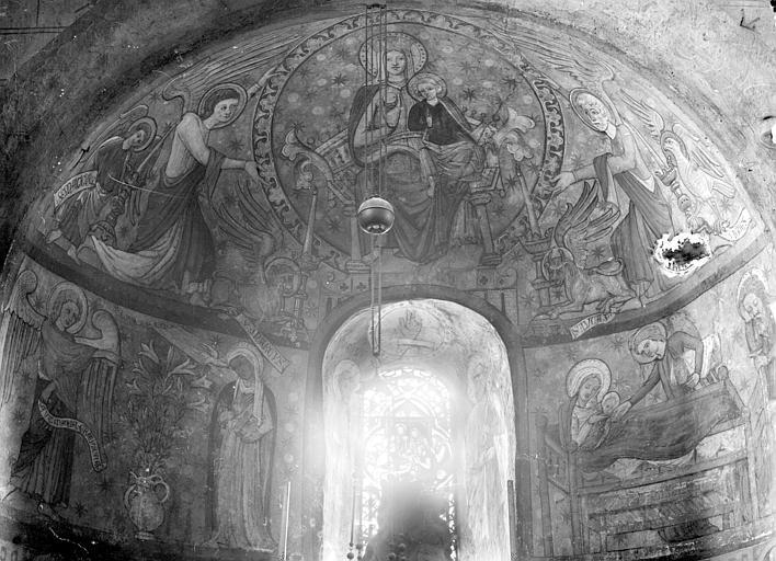 Peintures murales d'une absidiole