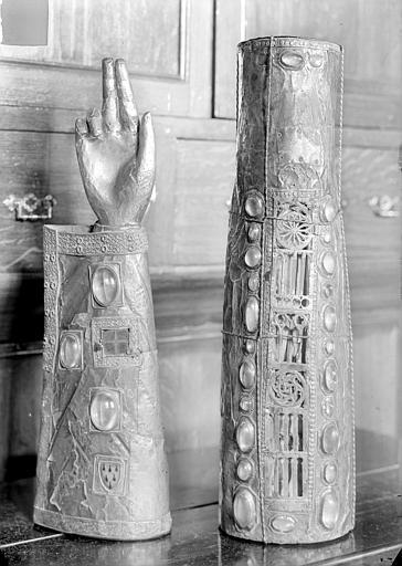 Bras reliquaire et jambe reliquaire