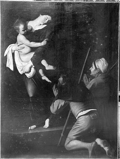 Peinture sur toile : La Vierge aux donateurs