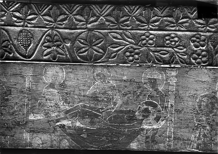 Panneau peint sur bois : Mise au tombeau