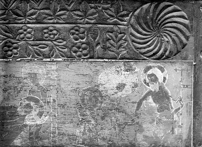 Panneau peint sur bois : Christ aux enfers