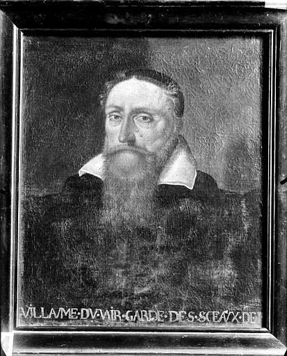 Tableau et son cadre : portrait de Guillaume du Vair