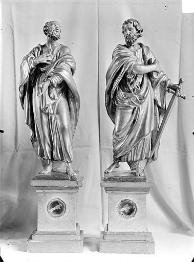 Statuettes de reliquaire : Saint Pierre et saint Paul