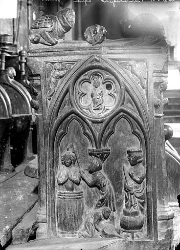 Stalles du choeur (détail) : Martyre d'un saint