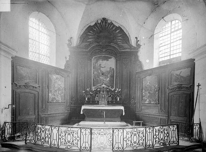 Maître-autel et retable. Maître-autel et retable