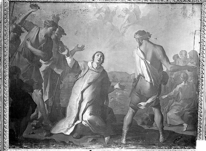 Tableau : Martyre de saint Etienne