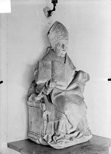 Statue en pierre : L'évêque saint Bonaventure