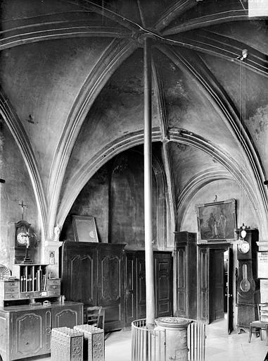 Vue intérieure de la sacristie
