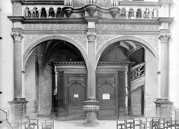 Tribune et buffet des orgues : Partie basse vue de face